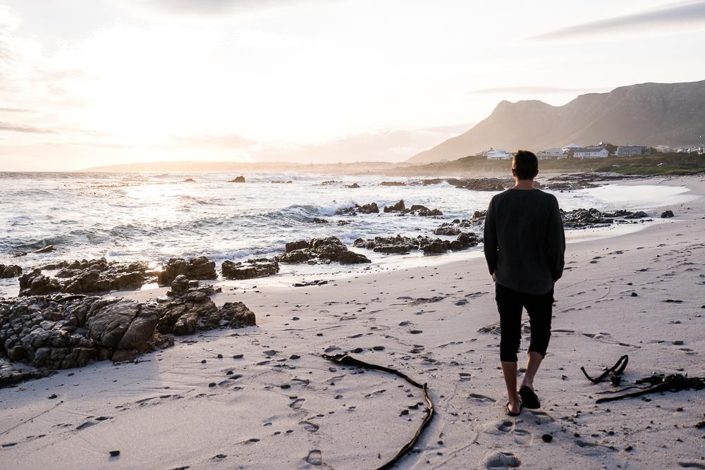 Sandbaai Sonnenuntergang Südafrika