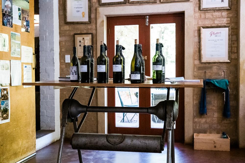 Kellergebäude De Trafford Wines Stellenbosch Südafrika