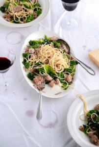 pasta mit wirsing und hackfleisch